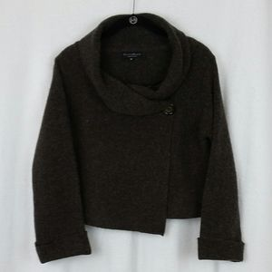 ChiaraMente made in Italy Cowl Neck Crop Sweater